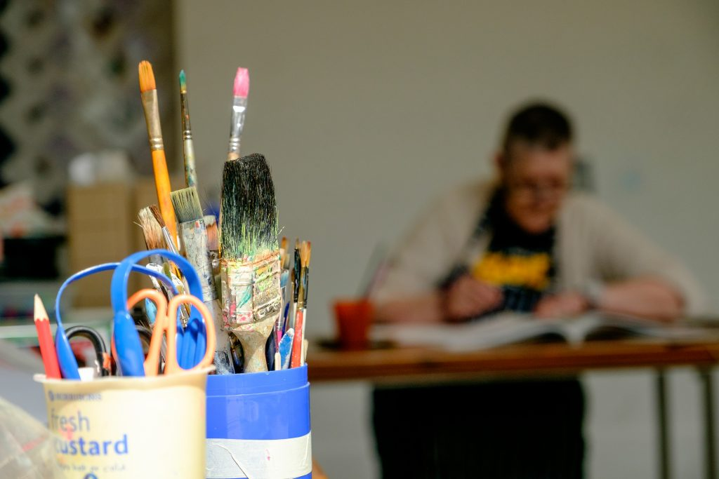 Painting in the Arts Workshop